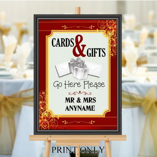 Personalised Wedding Cards & Gifts Sign Poster Banner - Print N189